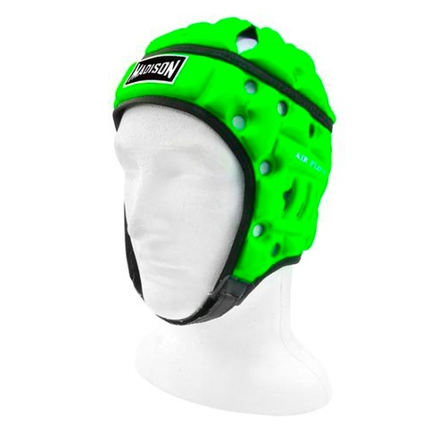 Madison Air Flo Neon Headguard [Size: Youth53cm Colour: Neon Green]]