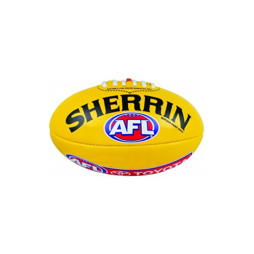 Sherrin PVC Replica Game Ball Aussie Rules Football [Colour: Yellow]