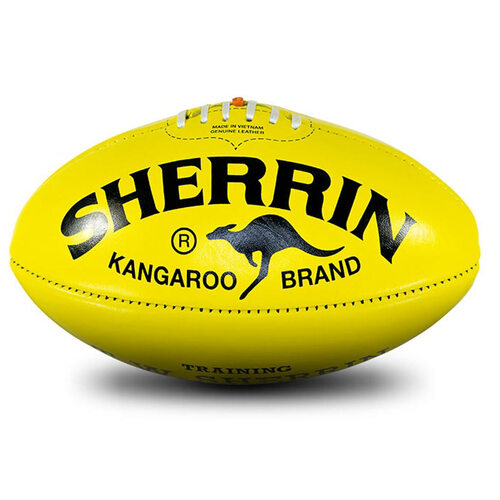 Sherrin KB Poly Aussie Rules Football [Colour: Yellow]