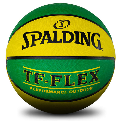 Spalding TF-Flex Outdoor Basketball [Size & Colour: Size 6 & Green/Gold ]