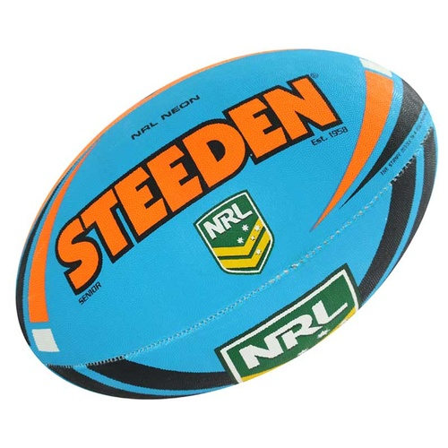 Steeden NRL Neon Football [Colour: Blue/Orange]