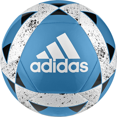 Adidas Starlancer V Soccer Ball Cyan/White/Black [Size: 5]