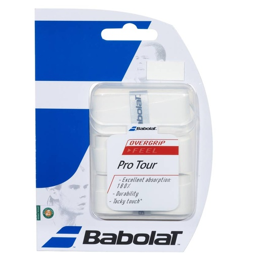 Babolat Pro Tour Tennis Overgrip [Colour: White]